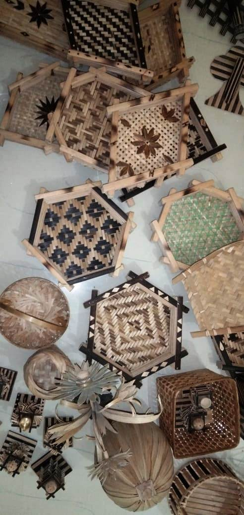 Bamboo products developed by Trainees
