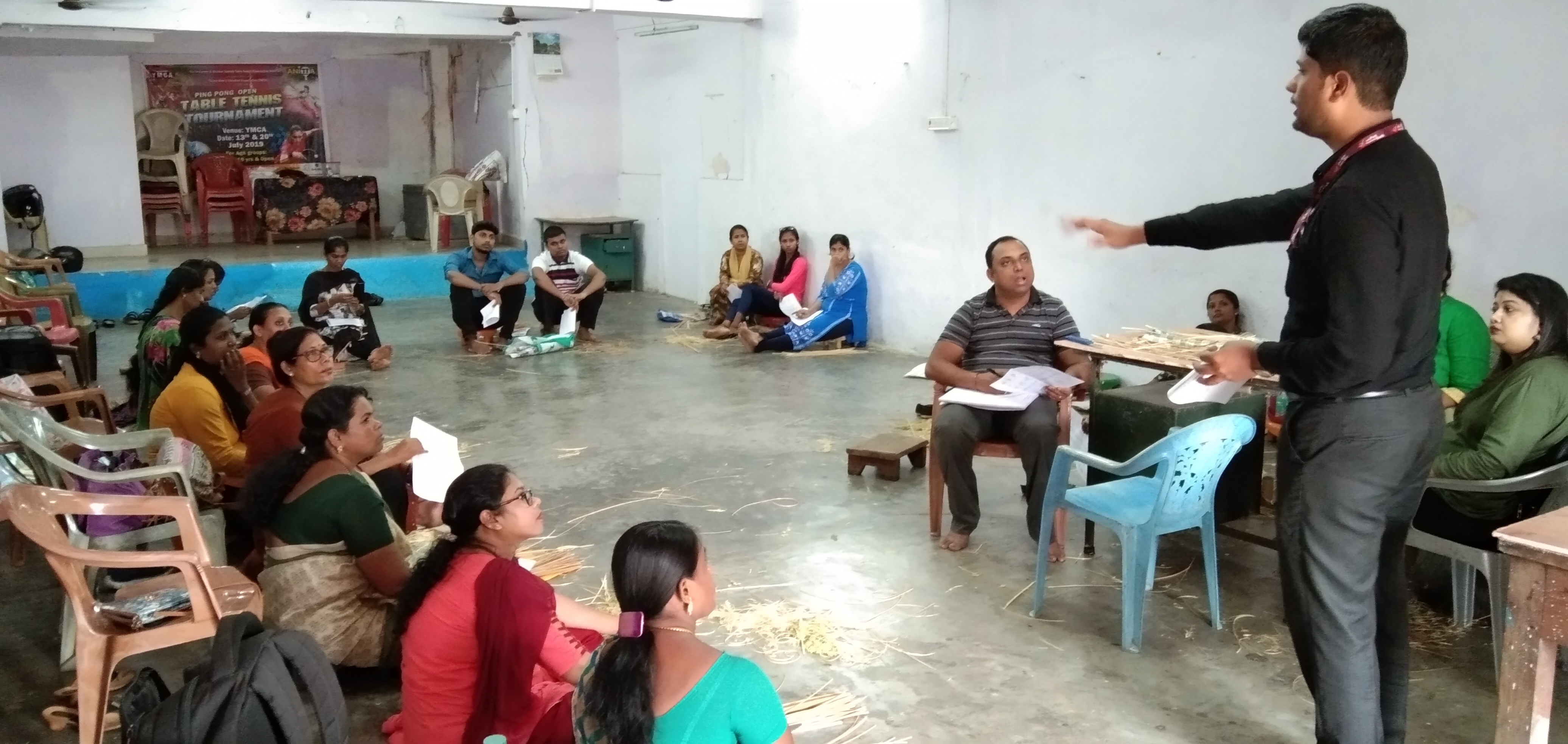 Resource person interacting with Trainees