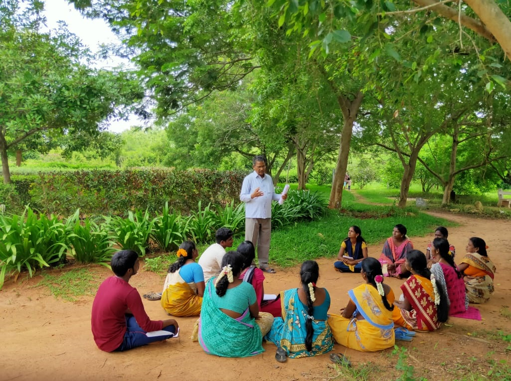 Discussion about medicinal garden